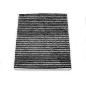 Filter, Innenraumluft Länge: 215mm, Breite: 193mm, Höhe: 25mm mit OEM-Nummer 05058693 AA