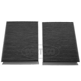 Filter, Innenraumluft Länge: 247mm, Breite: 206mm, Höhe: 30mm mit OEM-Nummer 64119163329