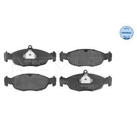 Комплект спирачно феродо, дискови спирачки 025 205 4716 Corsa B Хечбек (S93) 1.2 i (X 12 SZ, C 12 NZ) Г.П. 1996