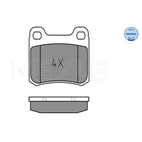 MEYLE  025 206 8713 Bremsbelagsatz, Scheibenbremse Breite: 61,6mm, Höhe: 54,3mm, Dicke/Stärke: 13,5mm