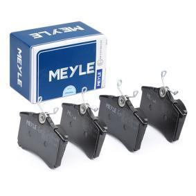 MEYLE Bremseklodser 025 209 6117 med OEM Nummer 1J0698451E