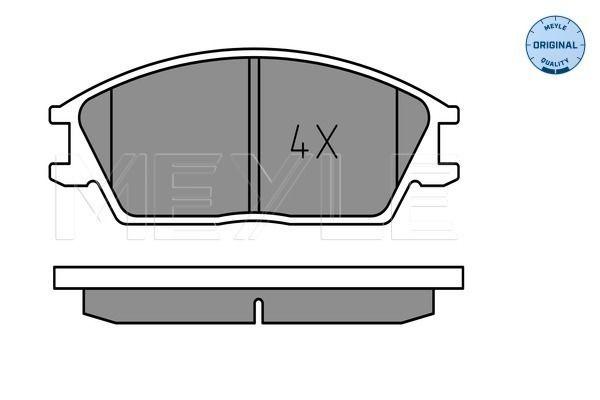 MEYLE  025 210 1214 Bremsbelagsatz, Scheibenbremse Breite: 127,3mm, Höhe: 49mm, Dicke/Stärke: 15mm