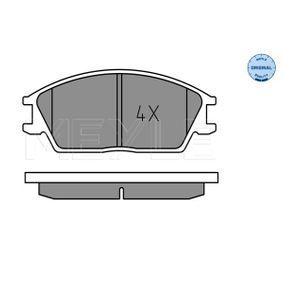 Bremsbelagsatz, Scheibenbremse Breite: 127,3mm, Höhe: 49mm, Dicke/Stärke: 15mm mit OEM-Nummer 581011CA10
