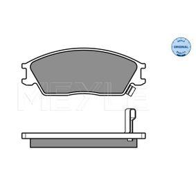 Bremsbelagsatz, Scheibenbremse Breite: 127,3mm, Höhe: 49mm, Dicke/Stärke: 14,1mm mit OEM-Nummer 58101-25A20
