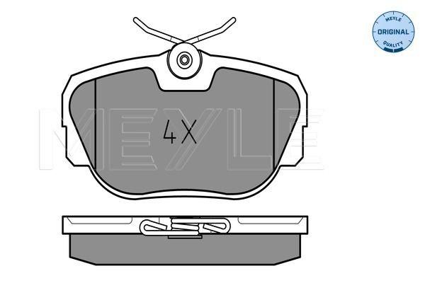 MEYLE  025 211 7317 Bremsbelagsatz, Scheibenbremse Breite: 94,6mm, Höhe: 52mm, Dicke/Stärke: 17mm