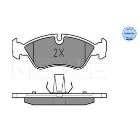 Bremsbelagsatz, Scheibenbremse Breite: 156,3mm, Höhe: 52,2mm, Dicke/Stärke: 17,6mm mit OEM-Nummer 16.05.808