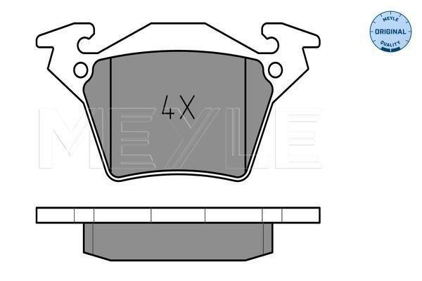 MEYLE  025 230 2017 Bremsbelagsatz, Scheibenbremse Breite: 105mm, Höhe: 52,8mm, Dicke/Stärke: 17,9mm