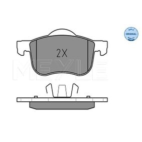 Brake Pad Set, disc brake Width 1: 155mm, Width 2 [mm]: 156,3mm, Height 1: 72,1mm, Height 2: 68,9mm, Thickness: 18,5mm with OEM Number 3 126 250 6
