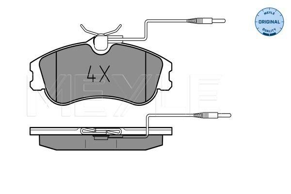 MEYLE  025 231 2419/W Bremsbelagsatz, Scheibenbremse Breite: 129,8mm, Höhe: 56mm, Dicke/Stärke: 19mm