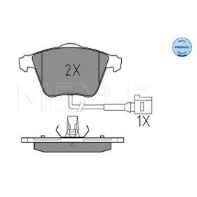 Bremsbelagsatz, Scheibenbremse Breite 1: 155,1mm, Breite 2: 156,4mm, Höhe: 72,8mm, Dicke/Stärke: 20mm mit OEM-Nummer 1K0-698-151-B