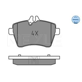 Brake Pad Set, disc brake Width: 116,6mm, Height: 64mm, Thickness: 18,7mm with OEM Number 1694201320