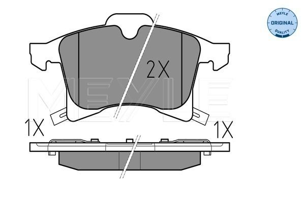 Комплект спирачно феродо, дискови спирачки MEYLE MBP0706 оценка