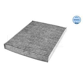 Filter, Innenraumluft Länge: 280mm, Breite: 205mm, Höhe: 25mm mit OEM-Nummer 1H0 091 800