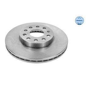 Bremsscheibe Bremsscheibendicke: 25mm, Lochanzahl: 5, Ø: 288mm mit OEM-Nummer 1K0615301K