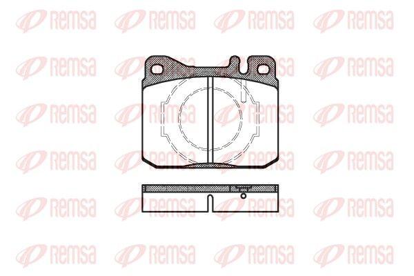 REMSA  0010.40 Bremsbelagsatz, Scheibenbremse Höhe: 73,8mm, Dicke/Stärke: 17,5mm