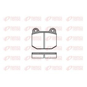 Brake Pad Set, disc brake Height: 65,5mm, Thickness: 16,5mm with OEM Number 1605317
