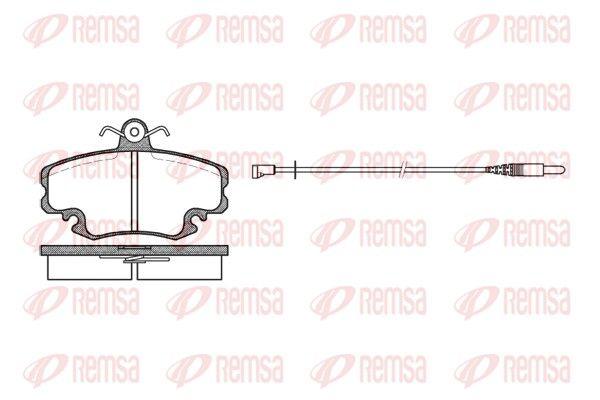 REMSA  0141.32 Bremsbelagsatz, Scheibenbremse Höhe: 64,8mm, Dicke/Stärke: 18mm