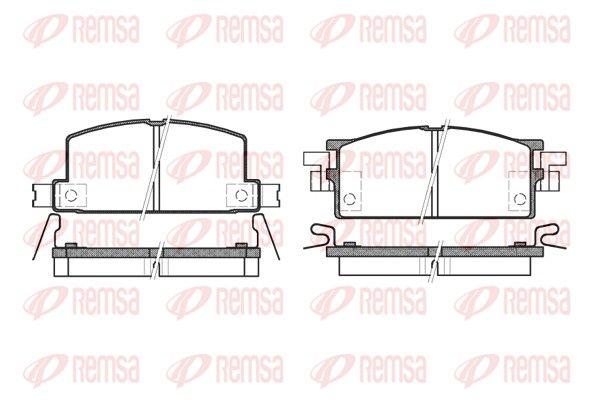 REMSA  0153.04 Bremsbelagsatz, Scheibenbremse Höhe: 50mm, Dicke/Stärke: 15mm