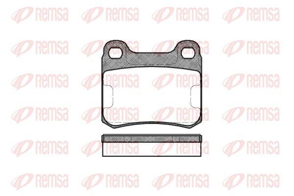 REMSA  0157.00 Bremsbelagsatz, Scheibenbremse Höhe: 54,2mm, Dicke/Stärke: 13,5mm