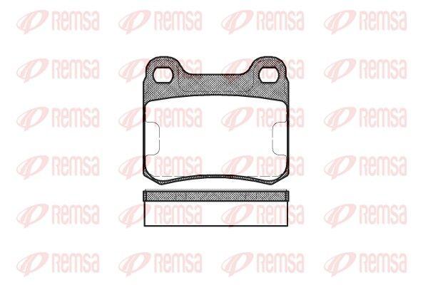 REMSA  0157.10 Bremsbelagsatz, Scheibenbremse Höhe: 54,2mm, Dicke/Stärke: 15,5mm