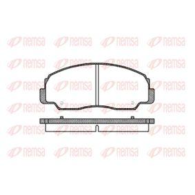 REMSA  0178.20 Bremsbelagsatz, Scheibenbremse Höhe: 52,5mm, Dicke/Stärke: 14mm