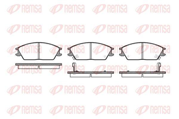 REMSA  0224.02 Bremsbelagsatz, Scheibenbremse Höhe: 49mm, Dicke/Stärke: 14,8mm