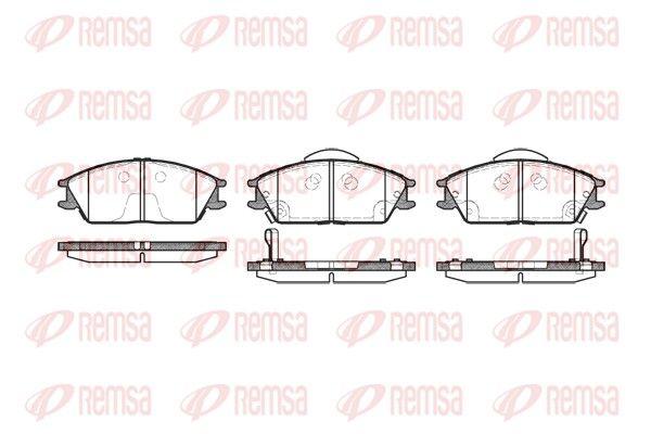 REMSA  0224.22 Bremsbelagsatz, Scheibenbremse Höhe: 49,1mm, Dicke/Stärke 1: 16mm, Dicke/Stärke 2: 15,6mm