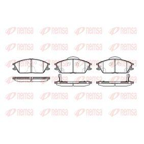 Bremsbelagsatz, Scheibenbremse Höhe: 49,1mm, Dicke/Stärke 1: 16mm, Dicke/Stärke 2: 15,6mm mit OEM-Nummer 58101 1CA10