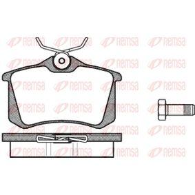 REMSA  0263.00 Bremsbelagsatz, Scheibenbremse Breite: 87mm, Höhe: 52,9mm, Dicke/Stärke: 17mm