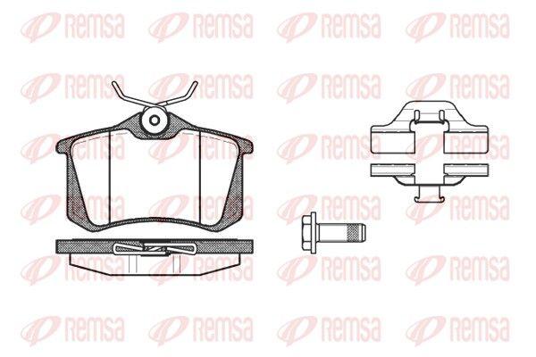 REMSA  0263.03 Bremsbelagsatz, Scheibenbremse Höhe: 52,9mm, Dicke/Stärke: 16mm