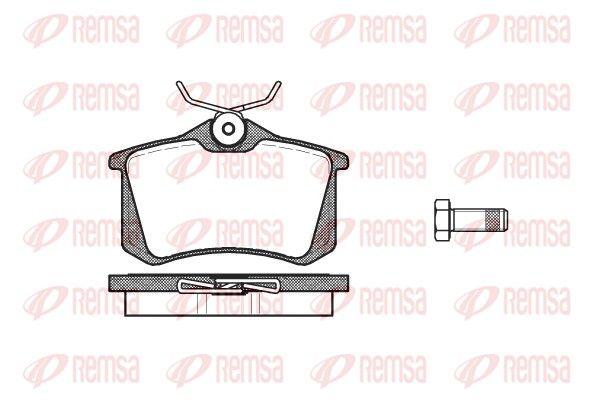 REMSA  0263.10 Bremsbelagsatz, Scheibenbremse Höhe: 52,9mm, Dicke/Stärke: 15mm