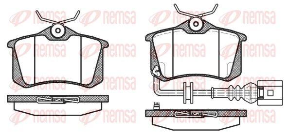 REMSA  0263.41 Bremsbelagsatz, Scheibenbremse Höhe: 52,9mm, Dicke/Stärke: 17mm