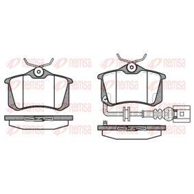 Bremsbelagsatz, Scheibenbremse Höhe: 52,9mm, Dicke/Stärke: 17mm mit OEM-Nummer 1K0698451A