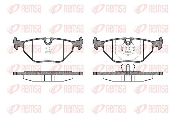REMSA  0265.00 Bremsbelagsatz, Scheibenbremse Höhe: 44,9mm, Dicke/Stärke: 17mm