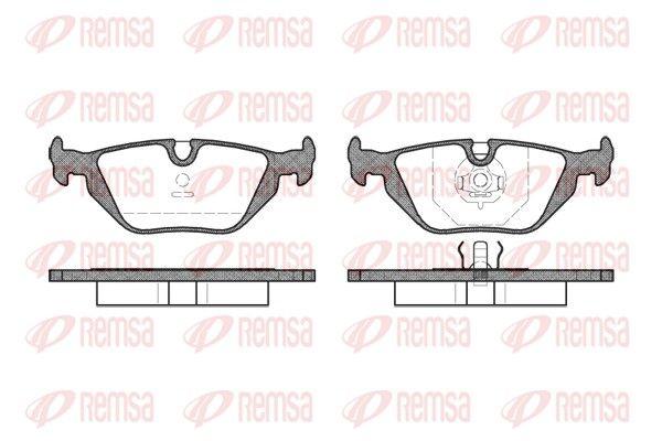 REMSA  0265.30 Bremsbelagsatz, Scheibenbremse Höhe: 44,9mm, Dicke/Stärke: 17mm