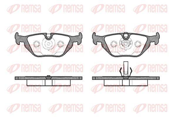 REMSA  0265.50 Bremsbelagsatz, Scheibenbremse Höhe: 44,9mm, Dicke/Stärke: 17mm