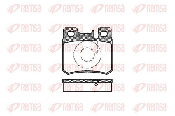 REMSA  0282.20 Bremsbelagsatz, Scheibenbremse Höhe: 58,5mm, Dicke/Stärke: 15,2mm