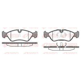 Bremsbelagsatz, Scheibenbremse Breite: 156,4mm, Höhe: 52,8mm, Dicke/Stärke 1: 17,3mm, Dicke/Stärke 2: 18,1mm mit OEM-Nummer 1 605 808