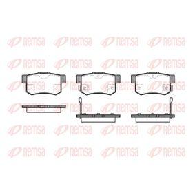 Honda Civic eu7 1.7 CTDi Bremsbeläge REMSA 0325.02 (1.7 CTDi Diesel 2003 4EE-2)