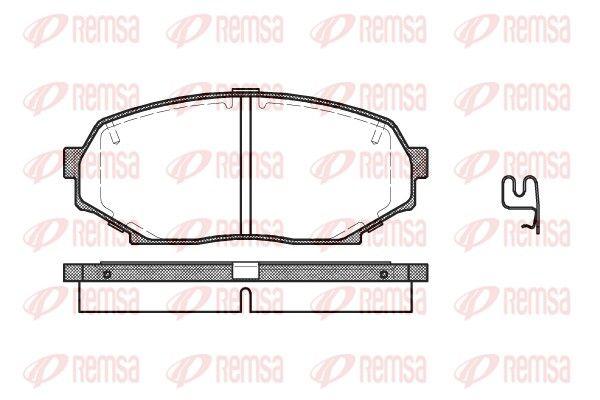 REMSA  0338.12 Bremsbelagsatz, Scheibenbremse Höhe: 46mm, Dicke/Stärke: 15,2mm