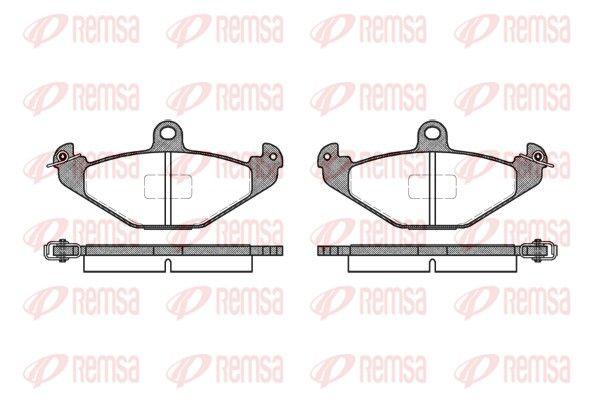 REMSA  0345.10 Bremsbelagsatz, Scheibenbremse Höhe: 58,5mm, Dicke/Stärke: 14,8mm