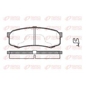 REMSA  0413.04 Bremsbelagsatz, Scheibenbremse Höhe: 44mm, Dicke/Stärke 1: 15,2mm, Dicke/Stärke 2: 16mm