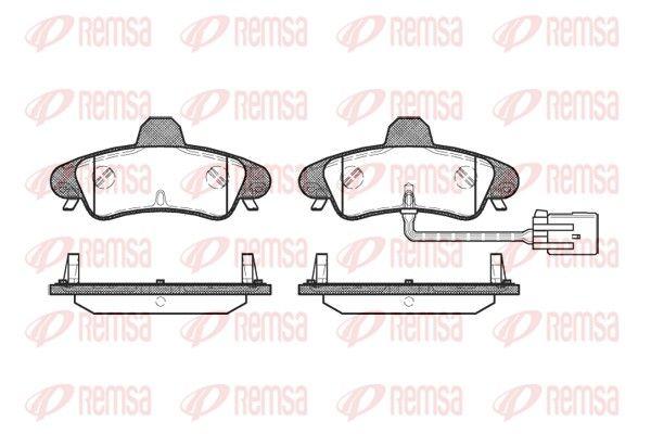 REMSA  0433.12 Bremsbelagsatz, Scheibenbremse Höhe: 53,9mm, Dicke/Stärke: 15,8mm
