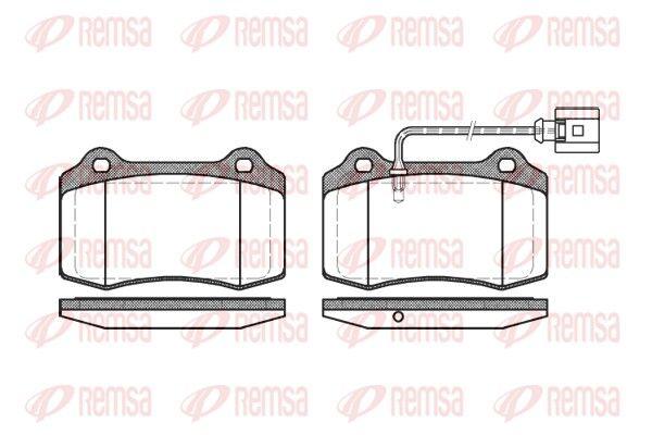 REMSA  0434.01 Bremsbelagsatz, Scheibenbremse Höhe: 69,3mm, Dicke/Stärke: 14,8mm