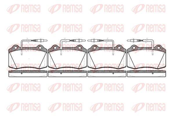 REMSA  0434.14 Bremsbelagsatz, Scheibenbremse Höhe: 69,3mm, Dicke/Stärke: 17,8mm