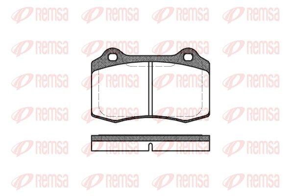REMSA  0434.30 Bremsbelagsatz, Scheibenbremse Höhe: 69,3mm, Dicke/Stärke: 14,8mm