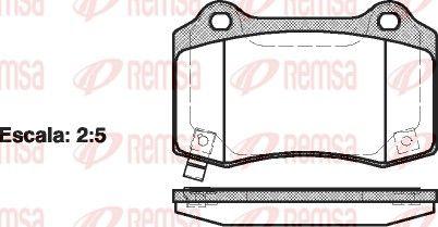 REMSA  0434.54 Bremsbelagsatz, Scheibenbremse Höhe: 69,3mm, Dicke/Stärke: 15,4mm