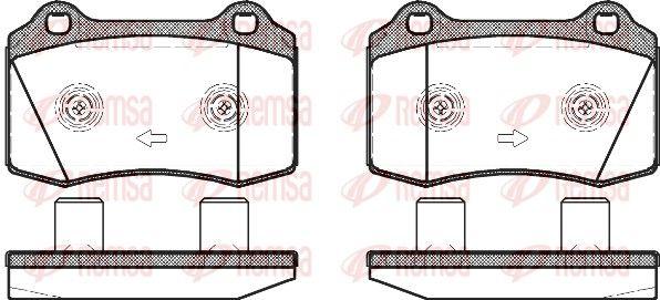 REMSA  0434.58 Bremsbelagsatz, Scheibenbremse Höhe: 69,3mm, Dicke/Stärke: 17,8mm