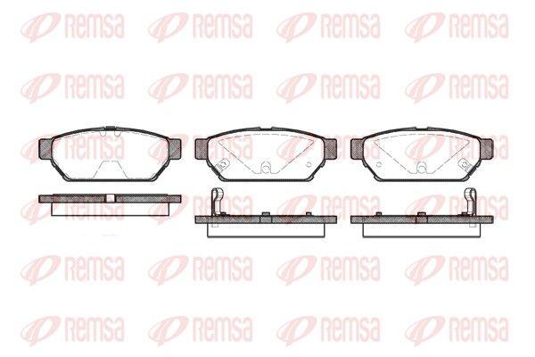 REMSA  0440.02 Bremsbelagsatz, Scheibenbremse Höhe: 37,5mm, Dicke/Stärke 1: 15mm, Dicke/Stärke 2: 14,2mm
