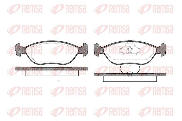 REMSA  0444.00 Bremsbelagsatz, Scheibenbremse Höhe: 50,7mm, Dicke/Stärke: 17mm